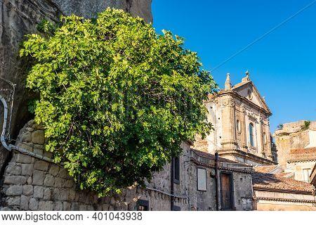 Saint Mary Cathedral In Castiglione Di Sicilia, Italy