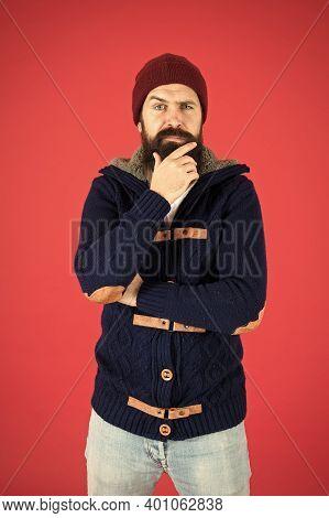 Warm And Comfortable. Brutal Temper. Fashion Menswear Shop. Masculine Clothes Concept. Winter Menswe