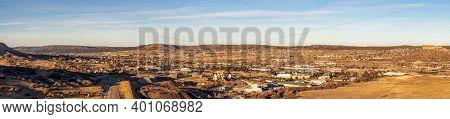 Colorado Living. City Of Parker, Colorado - Residential Winter Panorama.