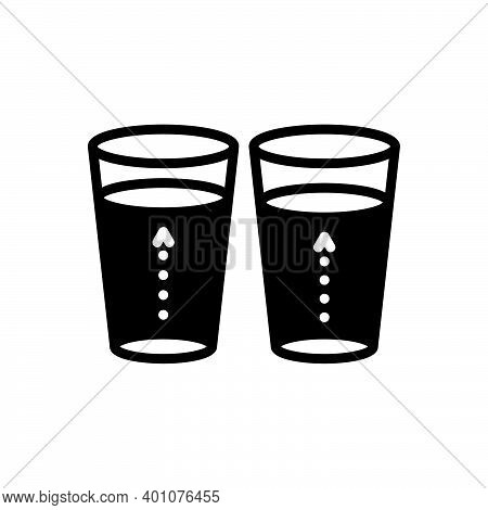 Black Solid Icon For Slightly Little Frivolous Few Somewhat Marginally More-or-less Glass Water Insi