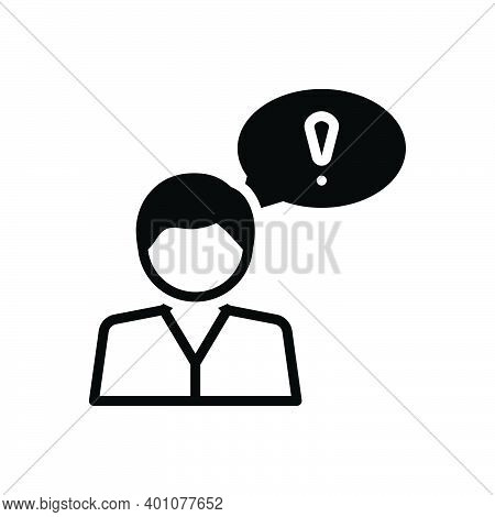 Black Solid Icon For Suppose Believe Consider Opine Assume Idea Deem Person Thoughtful Bubble