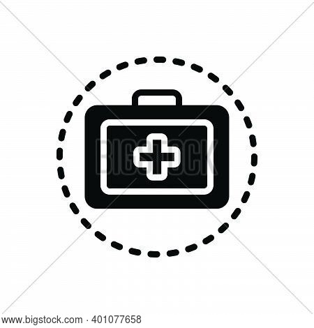 Black Solid Icon For Treatment Remedy Medical Medication First-aid-kit Safety Emergency-box Medicine