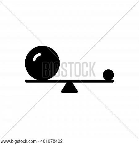 Black Solid Icon For Small Little Small-scale Mini Minor Balance Ball  Equilibrium