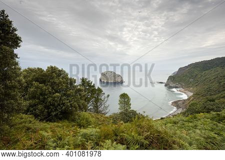 Small Island In The Cantabrian Sea, In The Municipality Of Bermeo, Spain