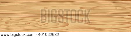 Wooden Horizontal Vector Background. Brown Wood Surface With Long Boards Lined Up Illustration.