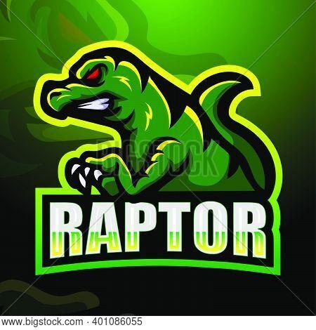Vector Illustration Of Raptor Mascot Logo Design