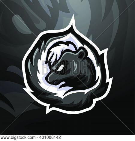 Vector Illustration Of Skunk Mascot Esport Logo Design