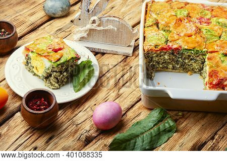 Pasqualina Italian Easter Cake