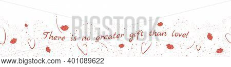 St. Valentine Day Hand Drawn Vector Background. Lovely Decorative Illustration With Hearts And Plump