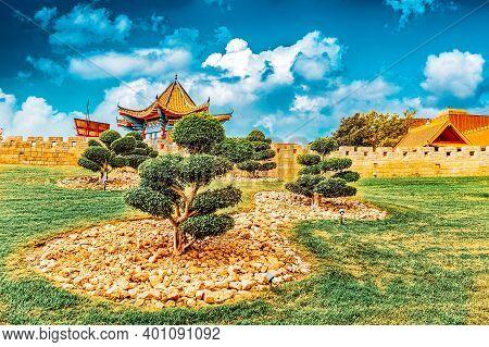 Beautiful Chinese Landscape Park .