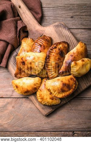 Traditional Argentine Empanadas Stuffed With Meat. Espanadas.