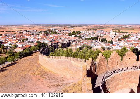 View Of The Town Of Belmonte From The Walls Of Its Castle.