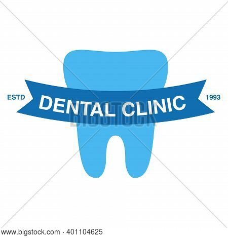 Dental Clinic Logo.dent Iisolated On A White Background.