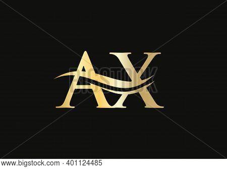 Initial Linked Letter Ax Logo Design. Modern Letter Ax Logo Design Vector With Modern Trendy