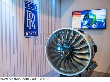 August 31, 2019, Moscow Region, Russia. Rolls-royce Trent 7000 Is A Turbofan Engine For The Widebody