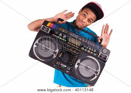 African American Dancer Hip Hop  Isolated