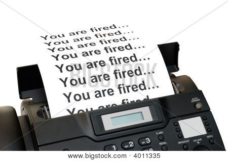 Fax Machine With Dismissal Notification