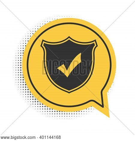 Black Shield With Check Mark Icon Isolated On White Background. Protection Symbol. Security Check Ic