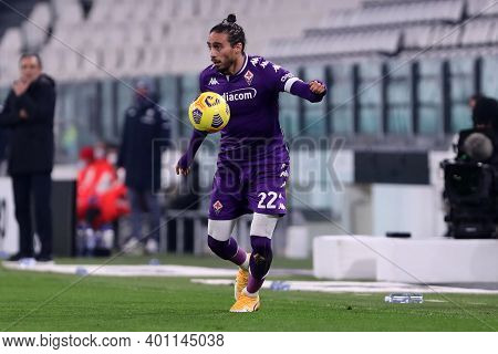 Torino, 22th December 2020. Martin Caceres Of Acf Fiorentina   During  The Serie A Match Between Juv