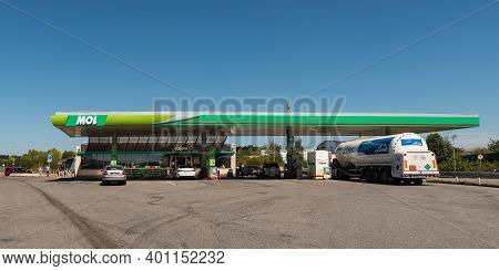 Central Bohemia, Czech Republic, 09-11-2020. Mol Gas Station In Prague And In The Outskirts (bohemia