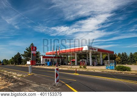 Central Bohemia, Czech Republic, 09-11-2020. Benzina Valvary Gas Station. Gas Station In Prague And
