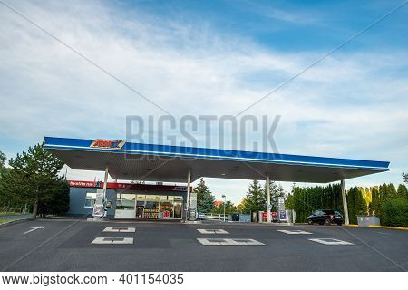 Central Bohemia, Czech Republic, 09-11-2020. Armex Oil Gas Station In Prague And In The Outskirts (b