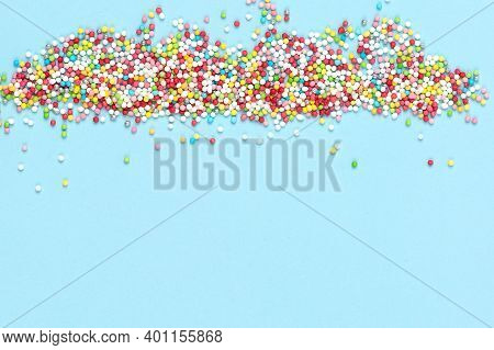 Creative Layout Made Of Decorative Candies For Sweets