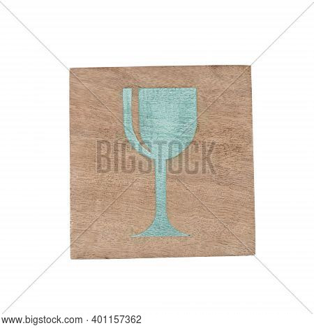 Coaster Isolated On White Background With Clipping Path