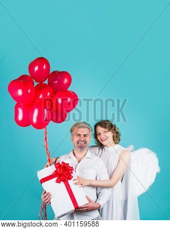 Love. Valentines Day Presents. Cupid Angels. Cupid In Valentine Day. Couple Of Cupids. Valentine Day