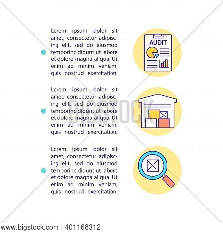 Warehouse Inventory Concept Icon With Text. Storehouse Audit. Retail Business. Inventory Organizatio