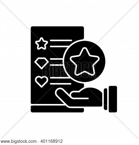 Usability Evaluation Black Glyph Icon. Adaptive Software. Interactive Application For Customer Satis