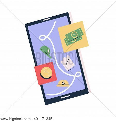 Smartphone Screen With Refusal Companies Answers In Application For Vacancy Applicant