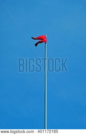 Bristol, Uk - May 8, 2016: A Pair Of Red Trousers Fly From A Flagpole Near City Hall. Mayor George F