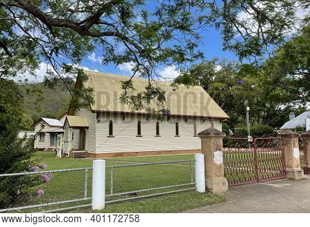 View Of The St Agnes Anglican Church Built In 1889 Gothic Revival In The Rural Town Of Esk, Queensla