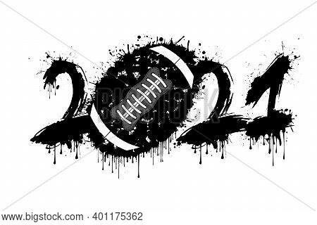Abstract Numbers 2021 And Football Ball From Blots