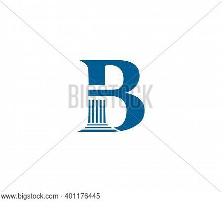B Alphabet Law Firm Logo Design Concept