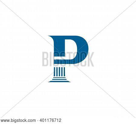 P Alphabet Law Firm Logo Design Concept