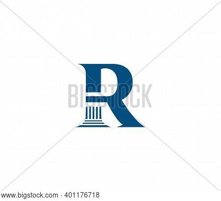 R Alphabet Law Firm Logo Design Concept