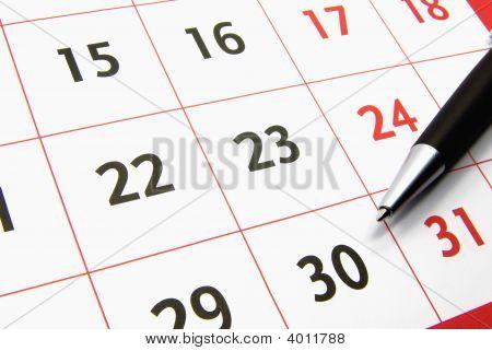 Calendar With A Pen 2
