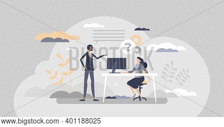 Internship Work Experience For Job Practice Training Tiny Person Concept
