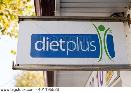 Bordeaux , Aquitaine  France - 12 25 2020 : Dietplus Text Sign Logo Brand Store Help To Acquire Heal