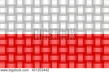 Poland Flag Background - Illustration,  Three Dimensional Flag Of Poland