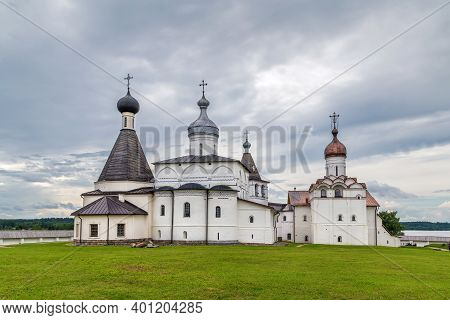 Complex Of Churches In Ferapontov Monastery, Russia. View From Apsi