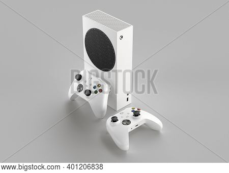 Italy - 27 December, 2020: New Video Game Consoles: Black Xbox Series S