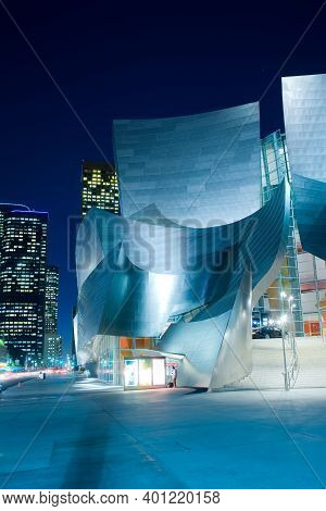 Los Angeles, California, United States - December 9, 2008: Detail Of The Avant Garde Architecture Of