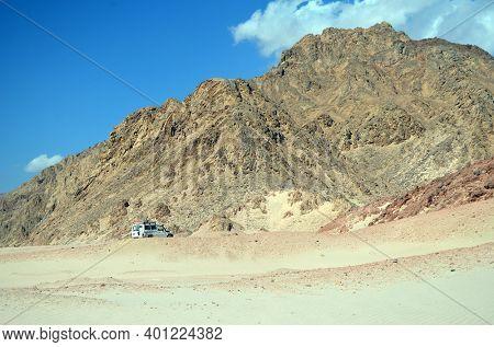 Toyota jeep popular for desert safari. Sharm El Sheikh, Egypt on November 8, 2020