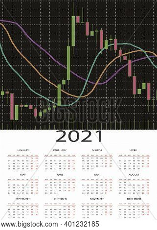 An Elegant Design With A Growing Japanese Candlestick Chart Representing The Path To Success And Pro