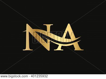 Initial Na Letter Logo With Creative Modern Business Typography Vector Template. Creative Abstract L