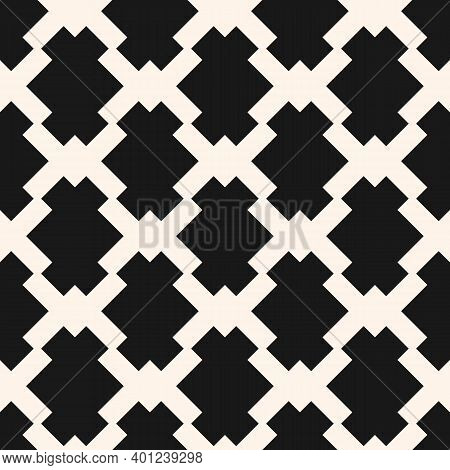 Vector Seamless Pattern With Diamond Grid, Net, Lattice, Mesh, Squares. Ethnic Style. Pink And Brown