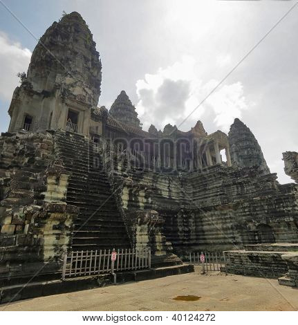 Ancient towers of Angkor Wat